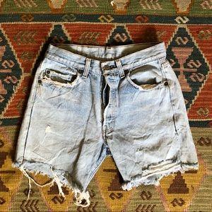 Vintage Levi's Cutoff Denim Shorts 26